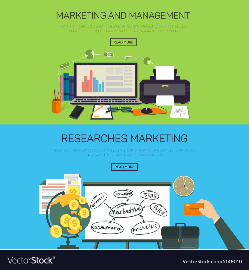 Marketing and management research marketing vector