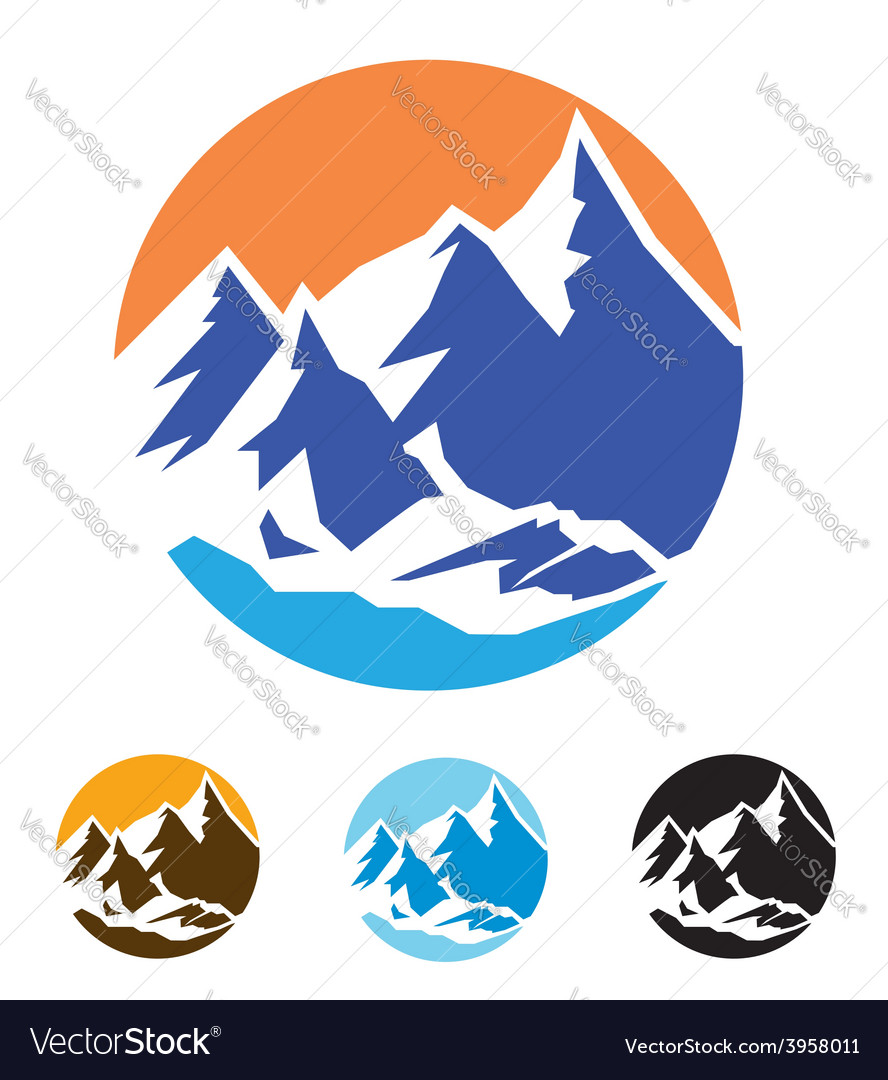 Symbol of mountains vector
