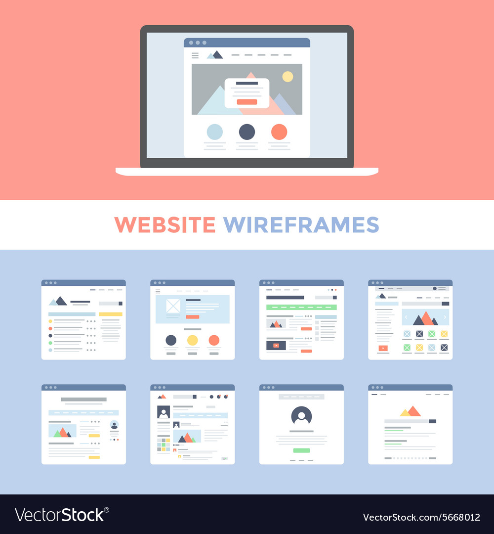 Website wireframes vector