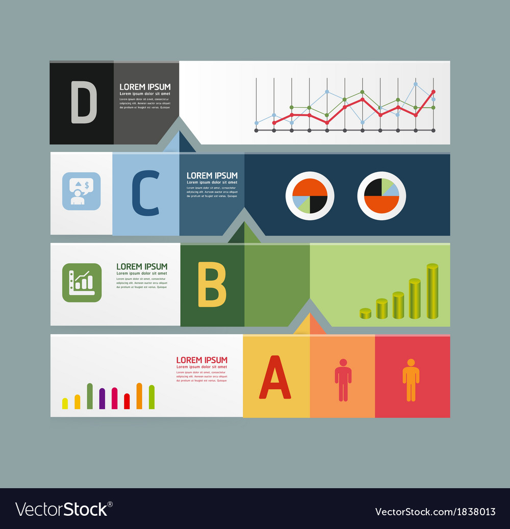 Infographic template modern design minimal style vector