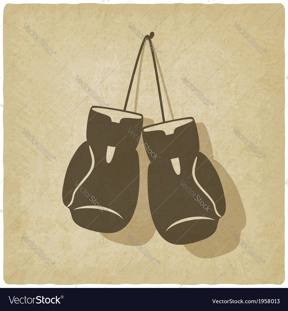 Sport boxing old background vector