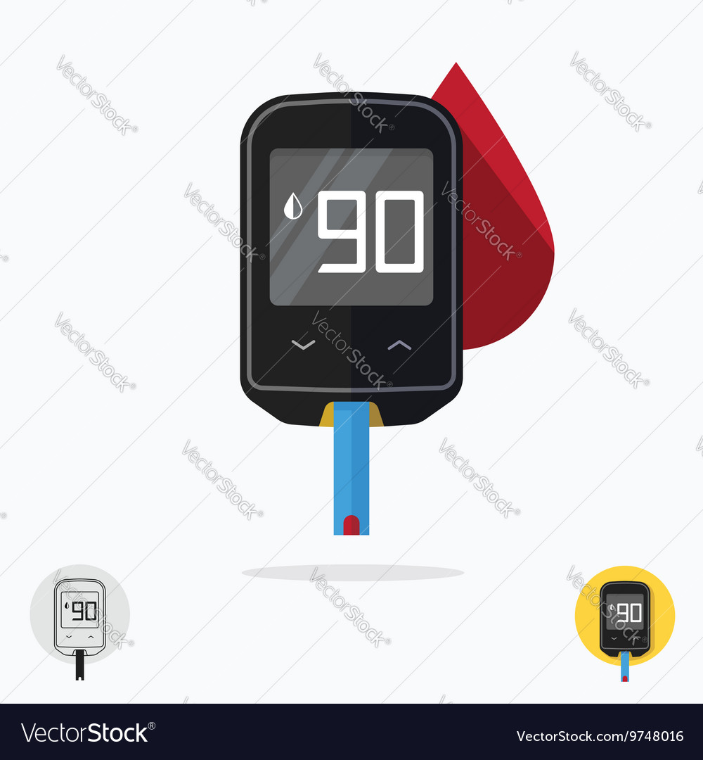 Glucometer pharmacy medical measuring portable vector