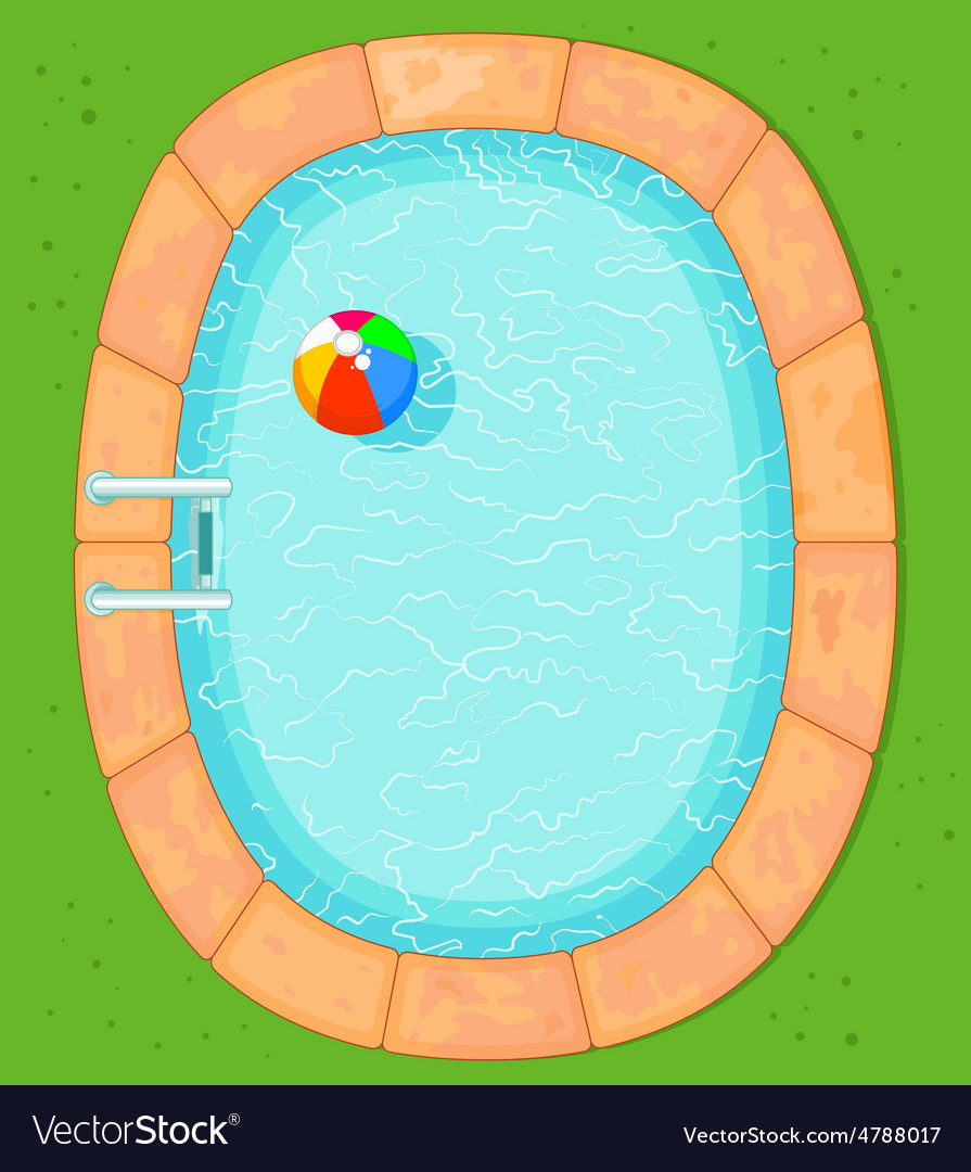 Top view pool vector