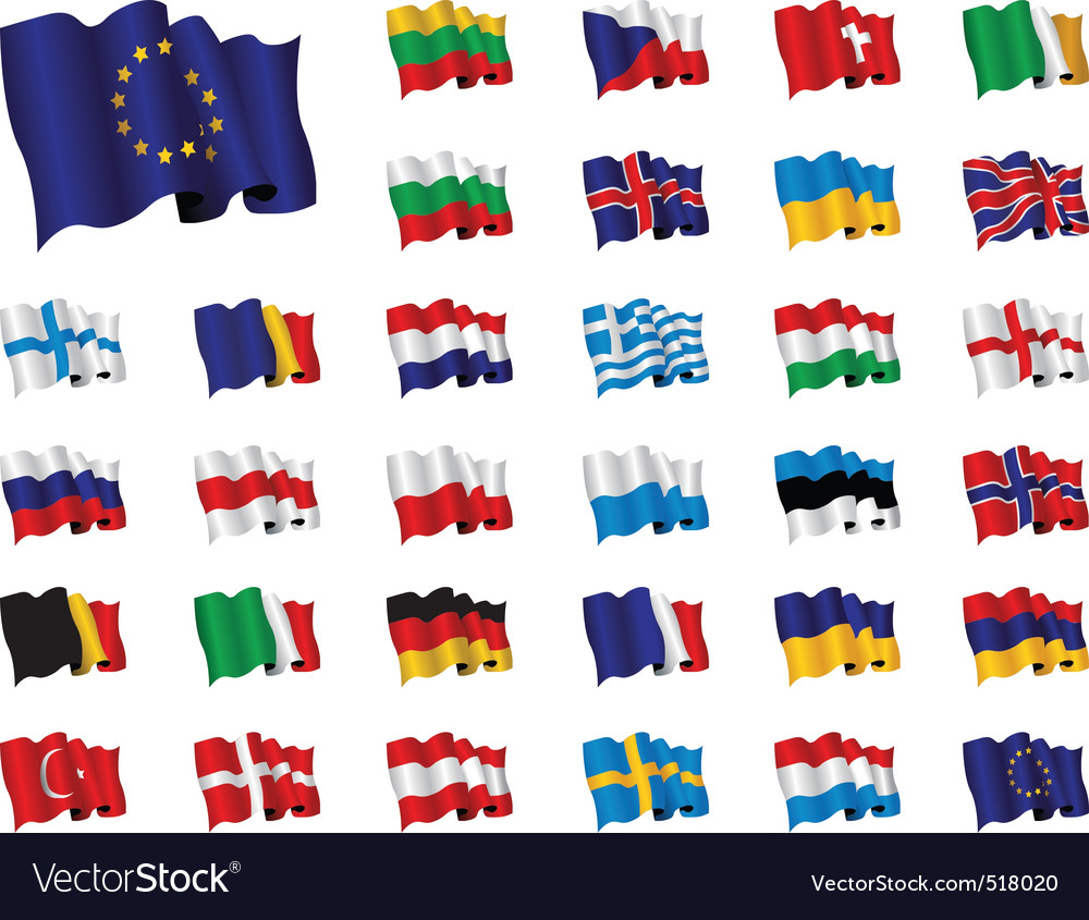 European flags vector