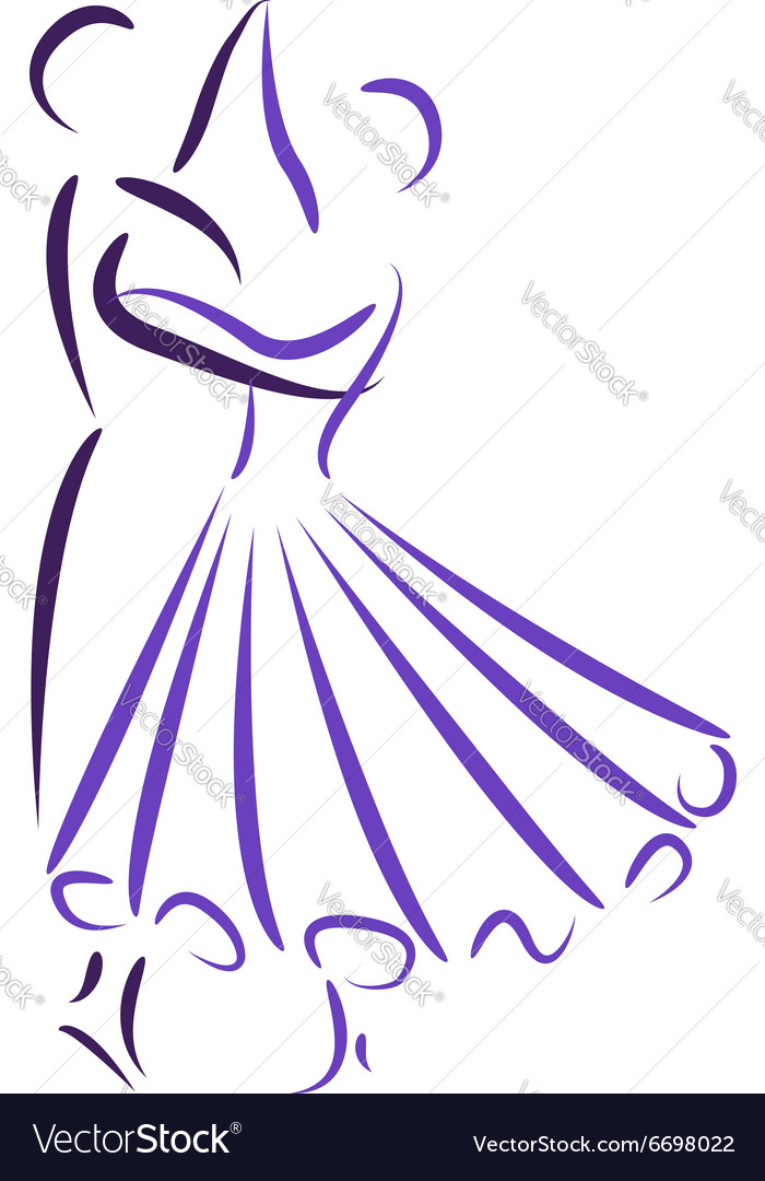 Waltz dancing couple vector
