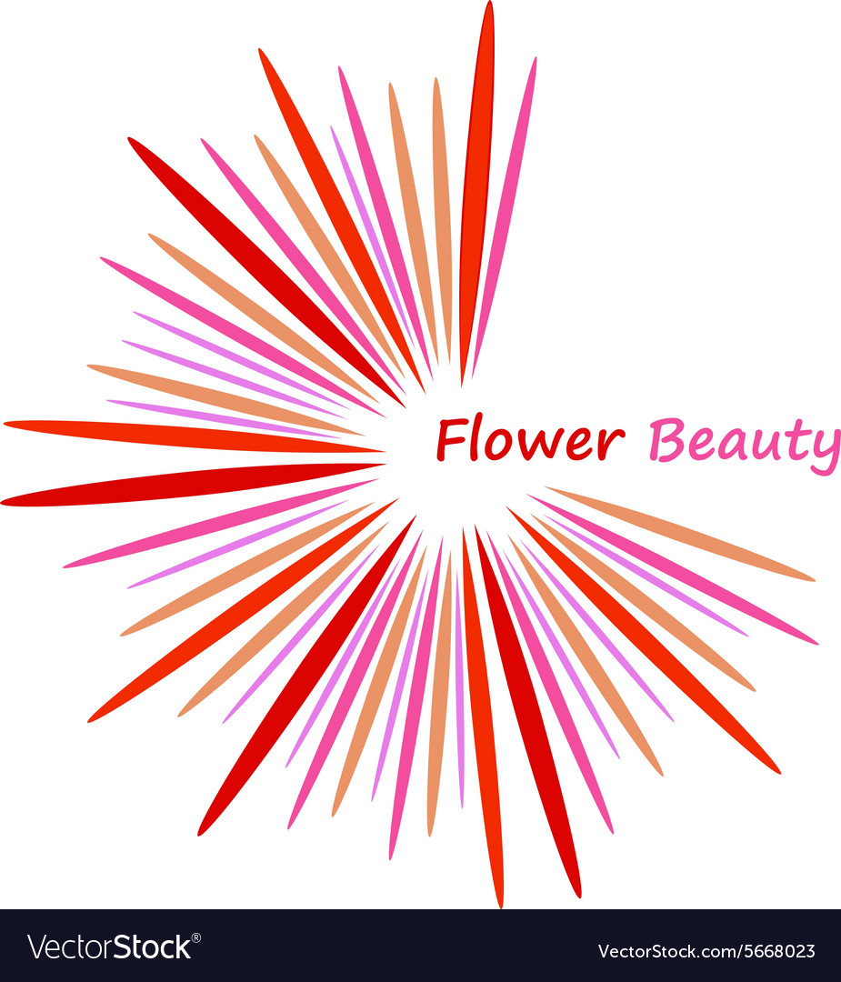 Beautiful abstract flower icon vector