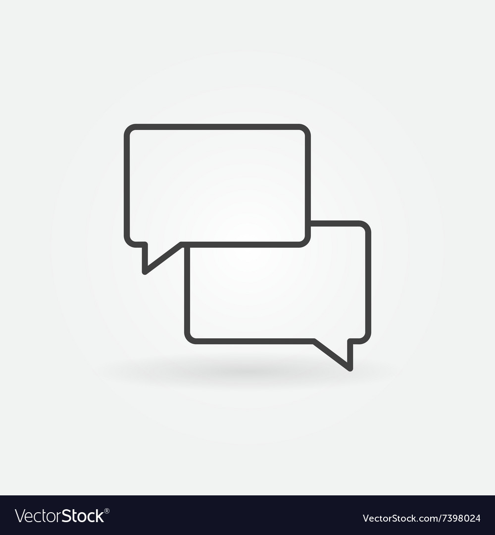 Two message clouds icon vector
