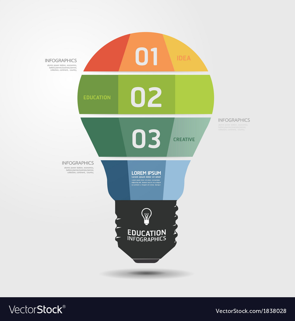 Modern design light minimal style infographic temp vector