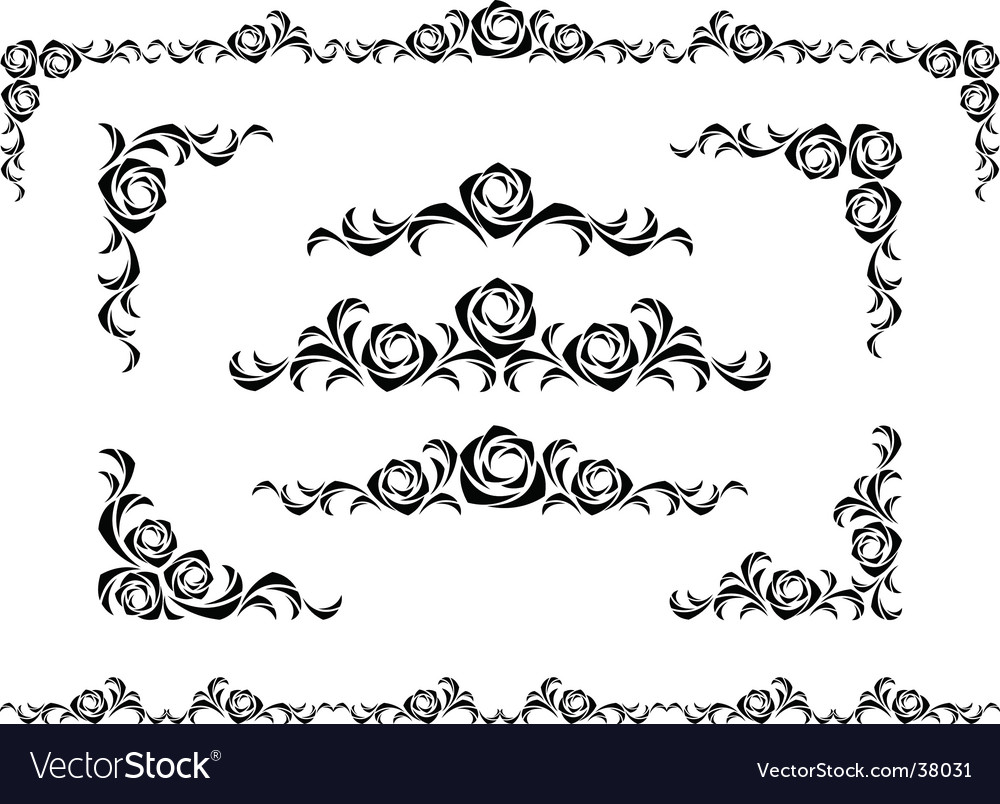 Rose ornament vector