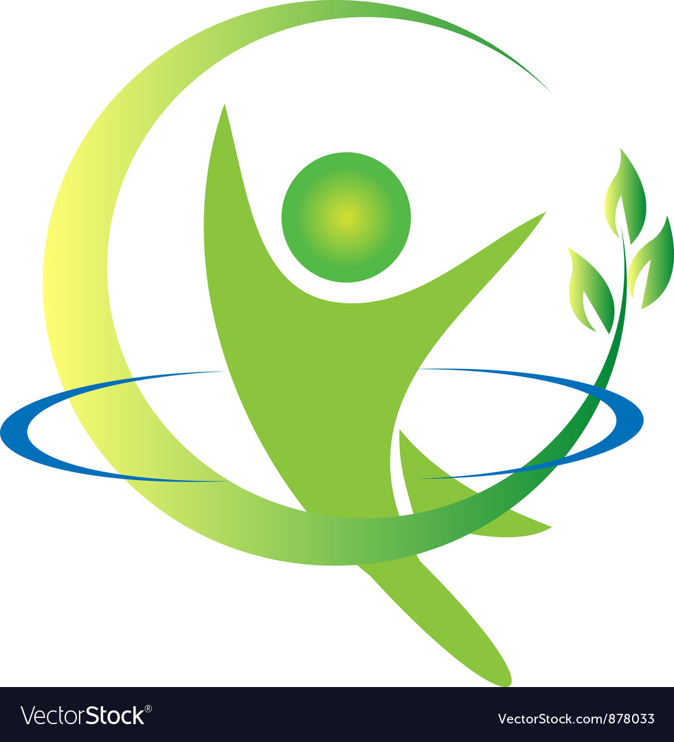Health nature men logo vector