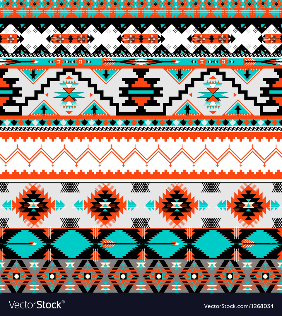 Seamless navaho pattern vector