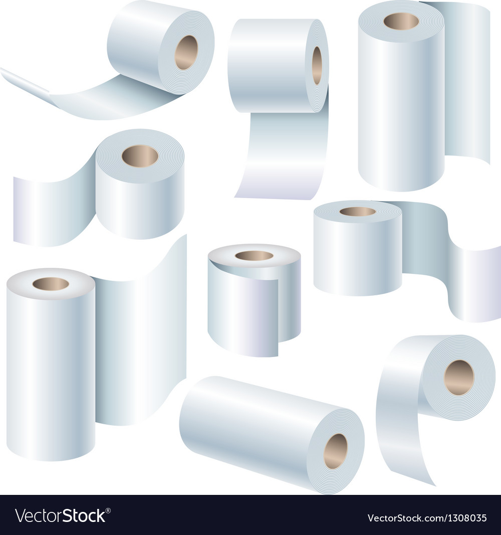 Paper roll set vector
