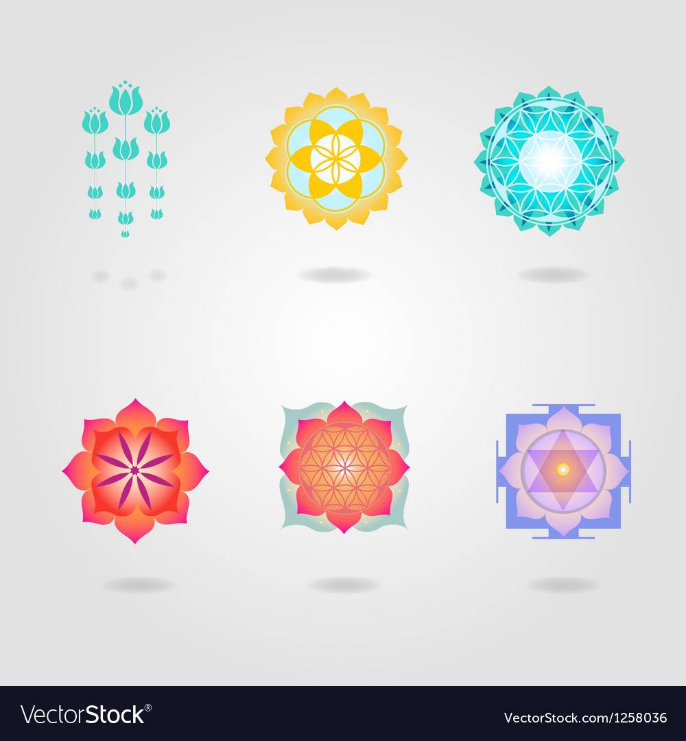 Mini mandalas set vector