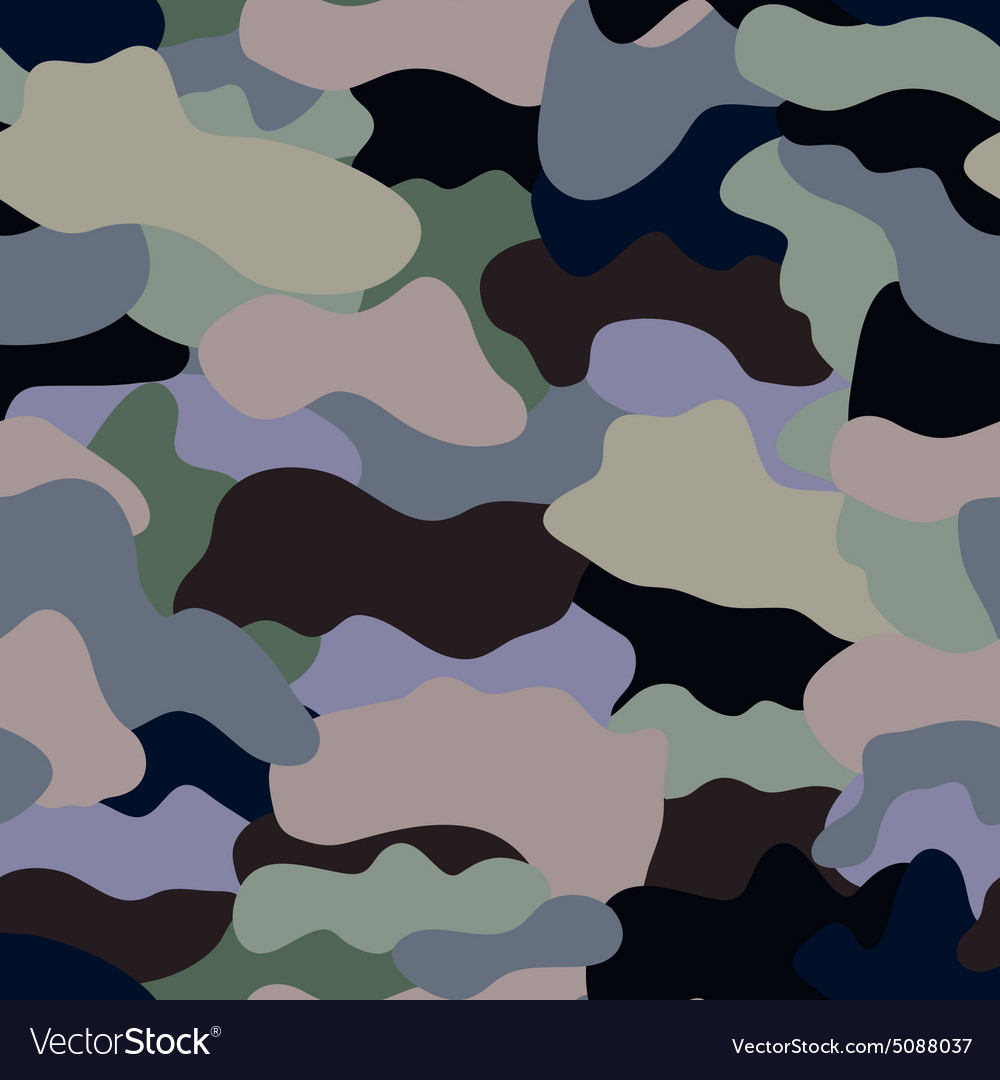 Seamless military camouflage texture military vector
