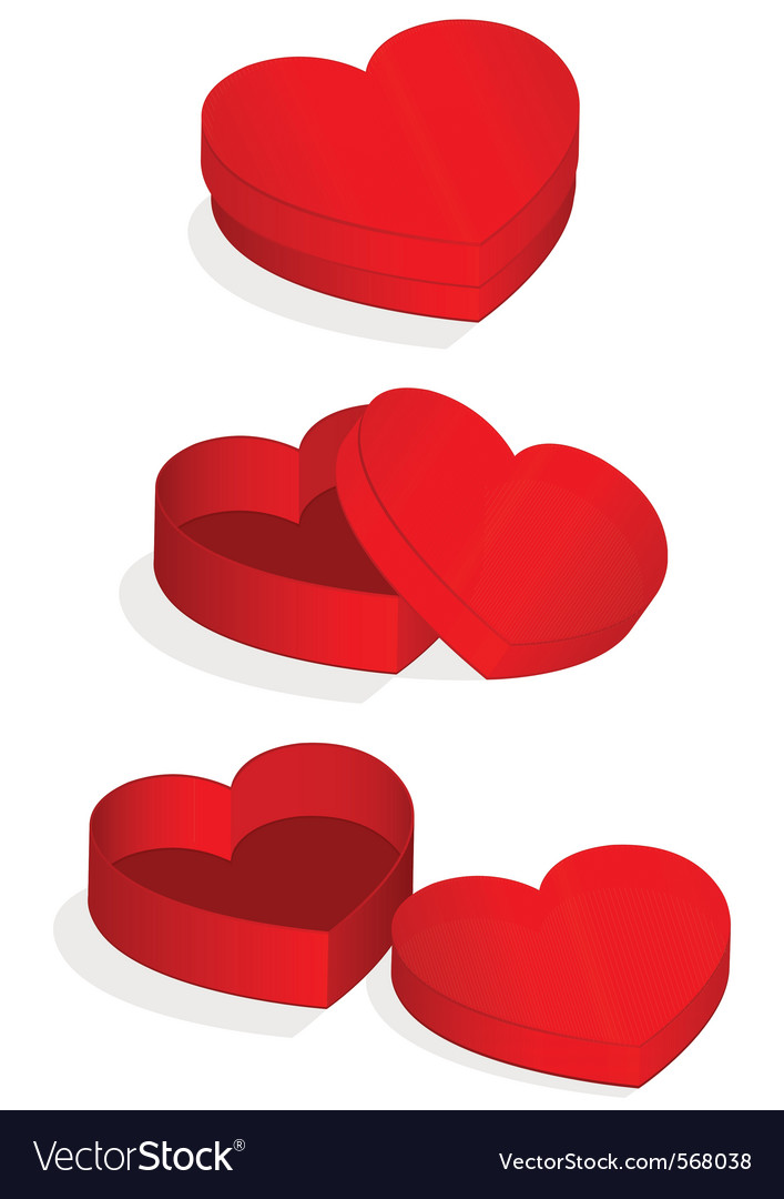 Heart valentine box vector