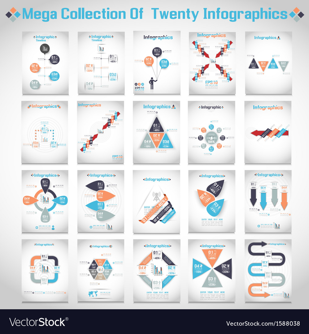 Retro infographic demographic world map elements 2 vector