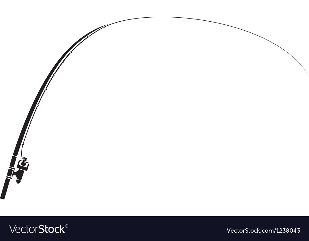 Isolated fishing rod vector