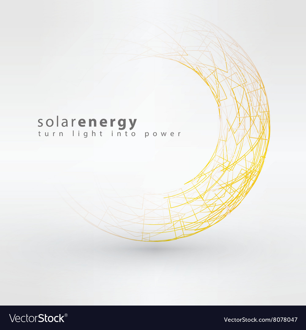 Sun icon made from power symbols solar energy logo vector