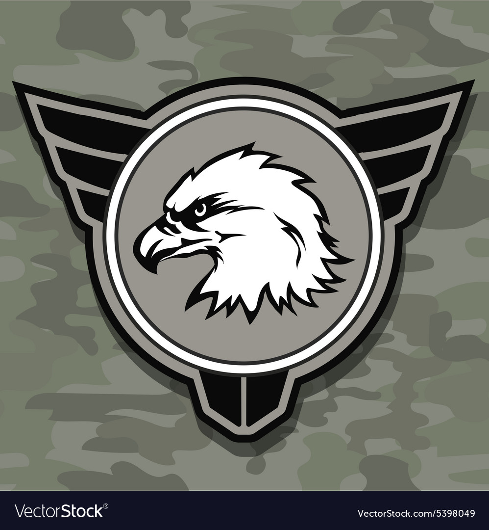 Eagle head logo emblem template mascot symbol for vector
