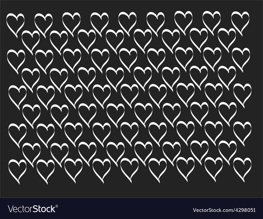Vintage heart pattern vector