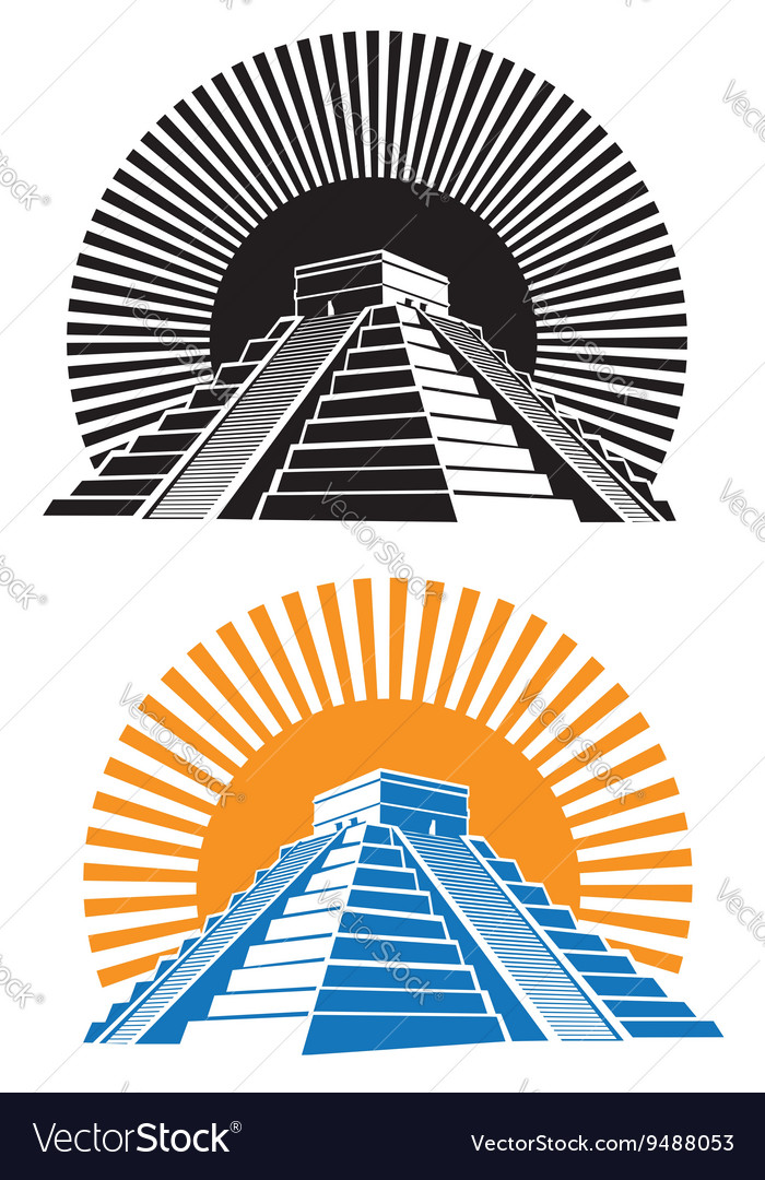 Ancient pyramids vector