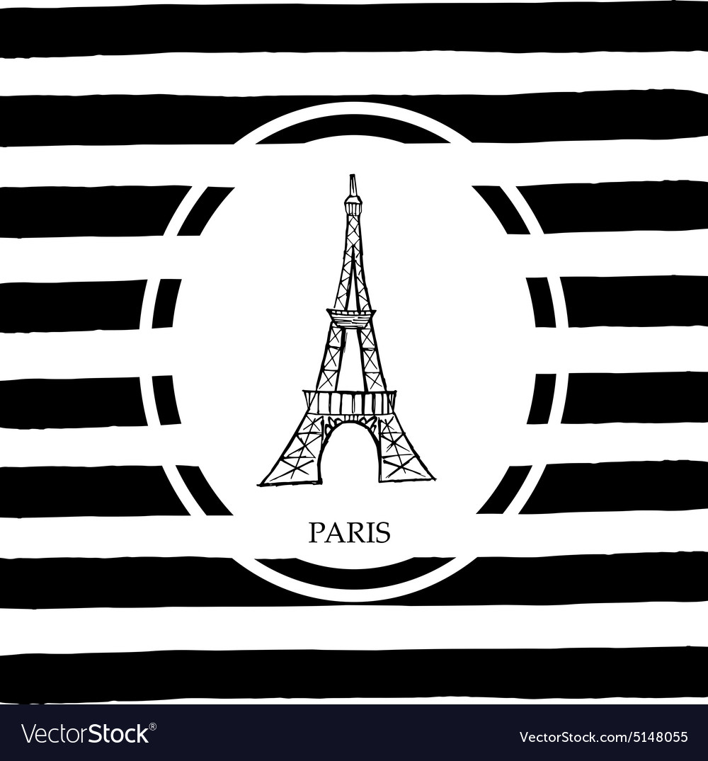 Eiffel tower in paris vector
