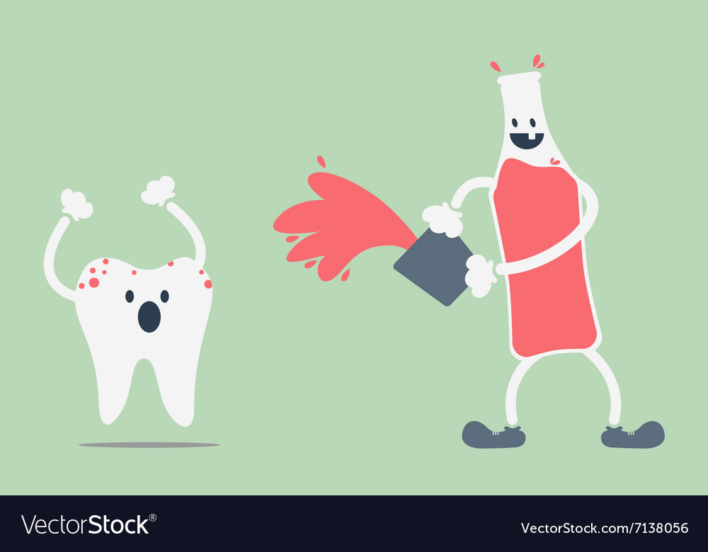 Teeth problem from soft drink vector