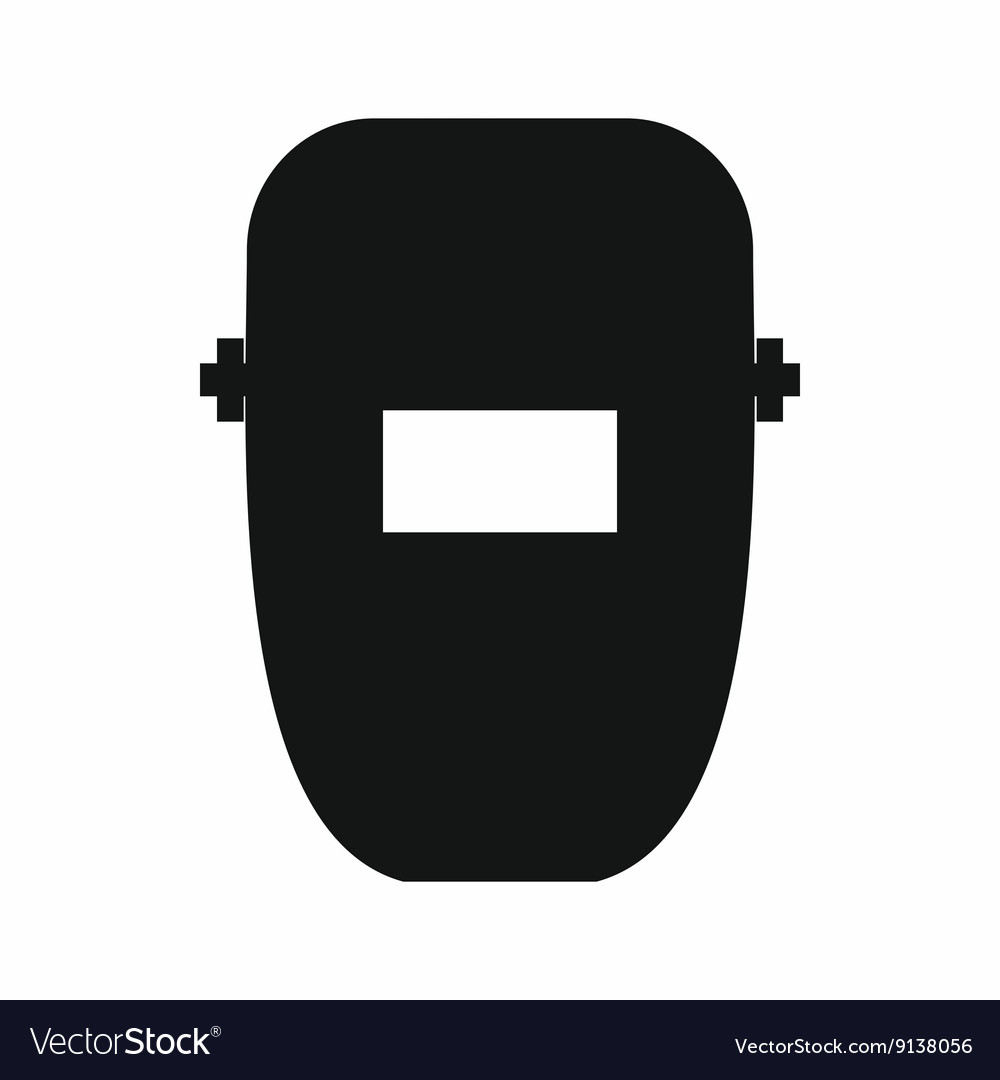 Welding mask icon simple style vector