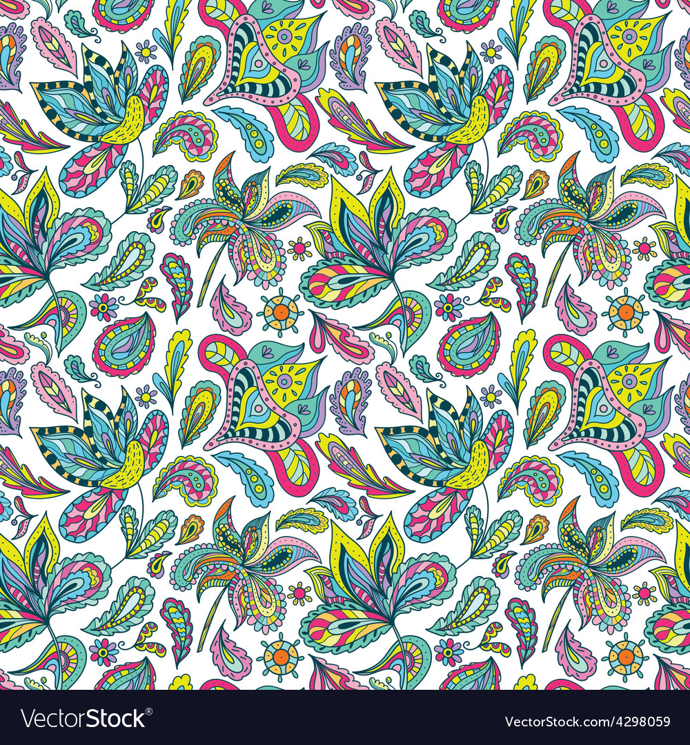 Hot summer indian pattern vector