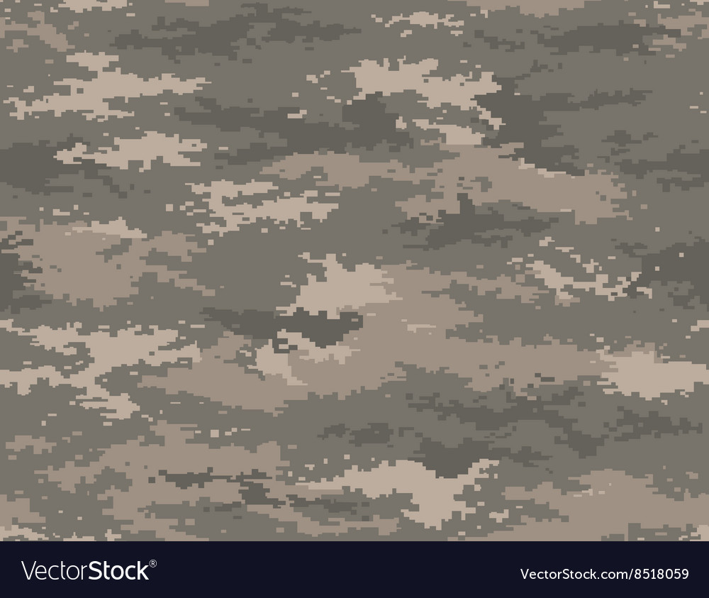 Pixel camouflage army universal seamless pattern vector