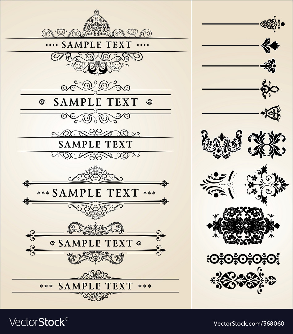 Calligraphy designs vector