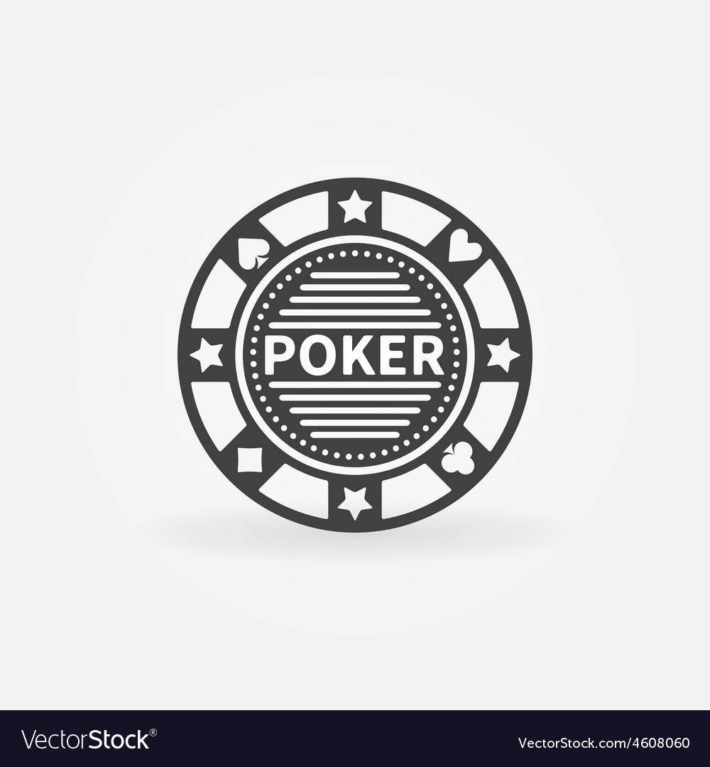 Poker chip icon vector
