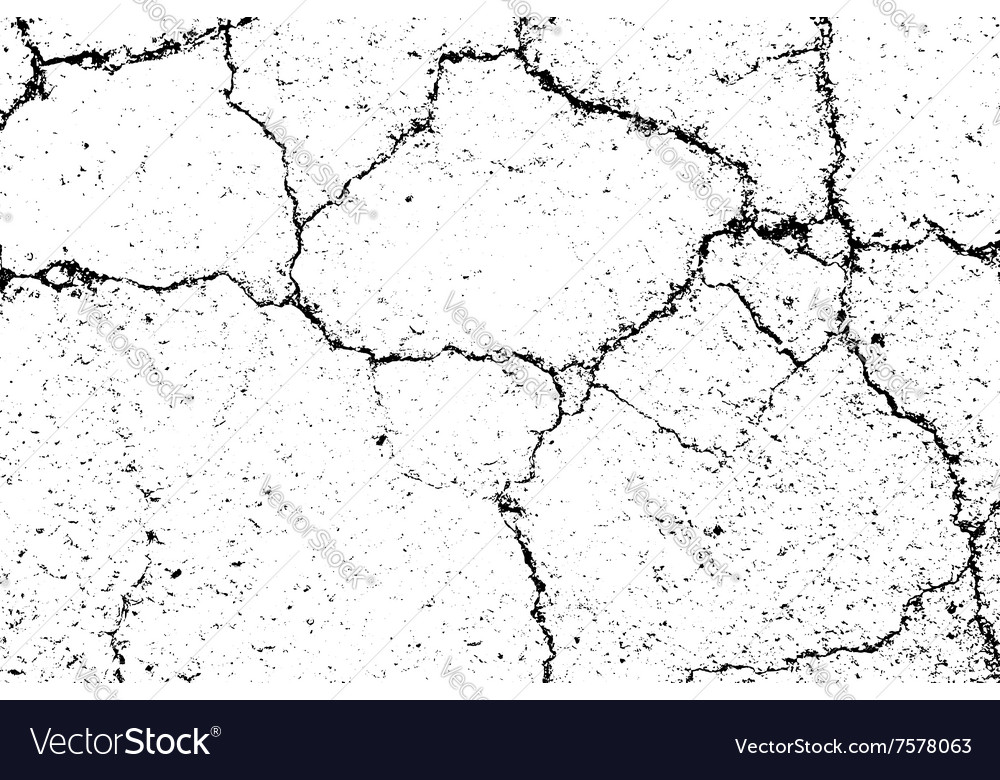 Cracked texture white and black 2 road vector