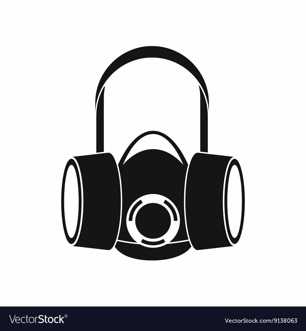 Respirator icon simple style vector