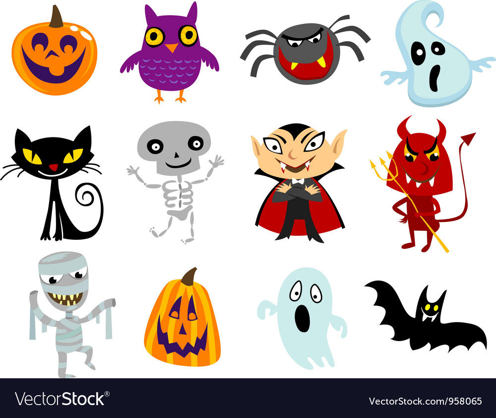 Halloween cartoons vector