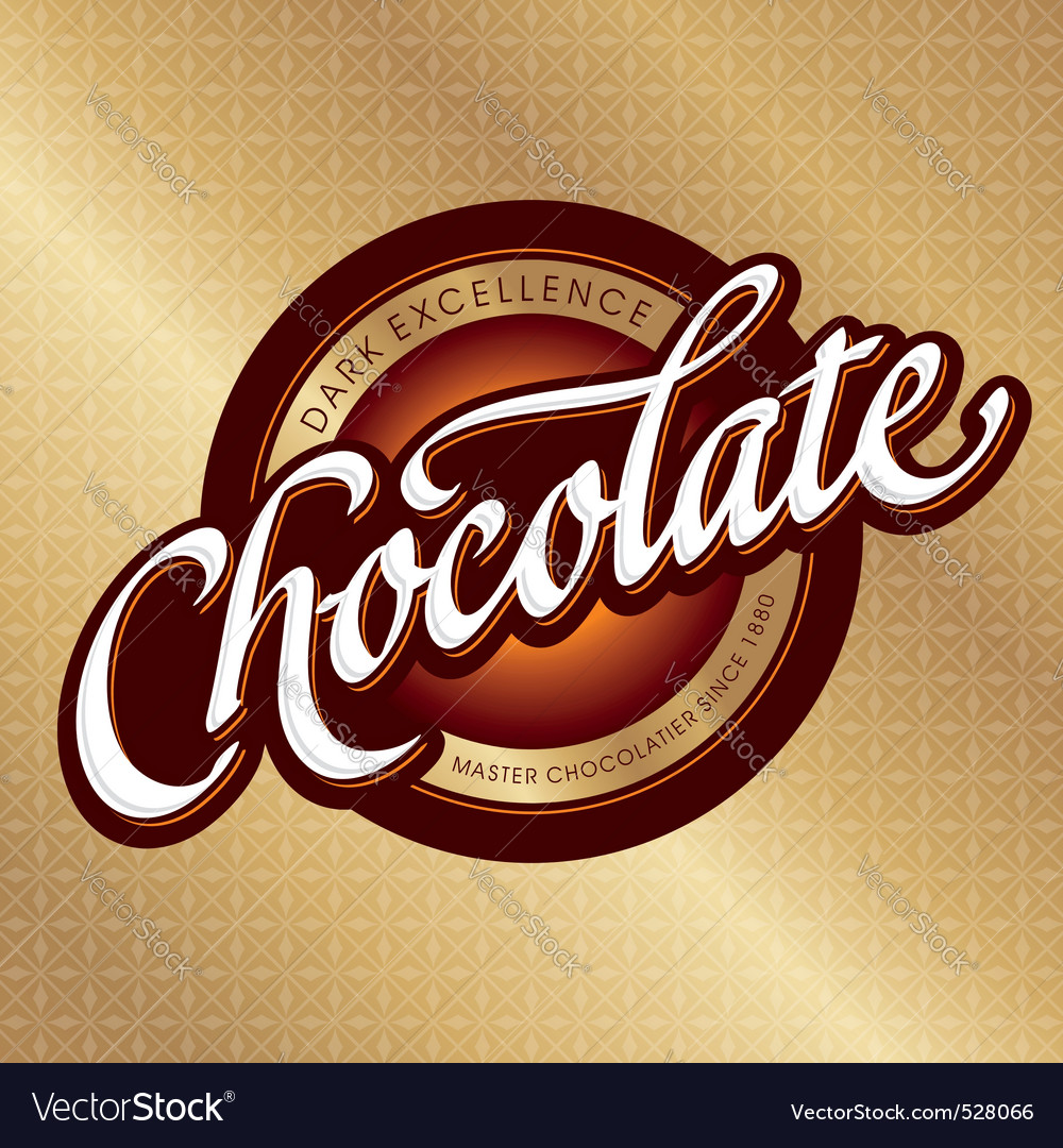 Chocolate packaging design vector