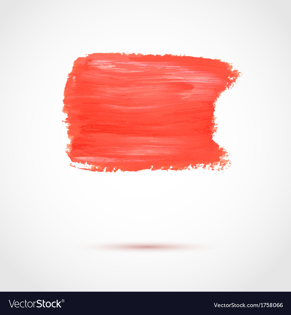 Colorful red abstract paint banner vector