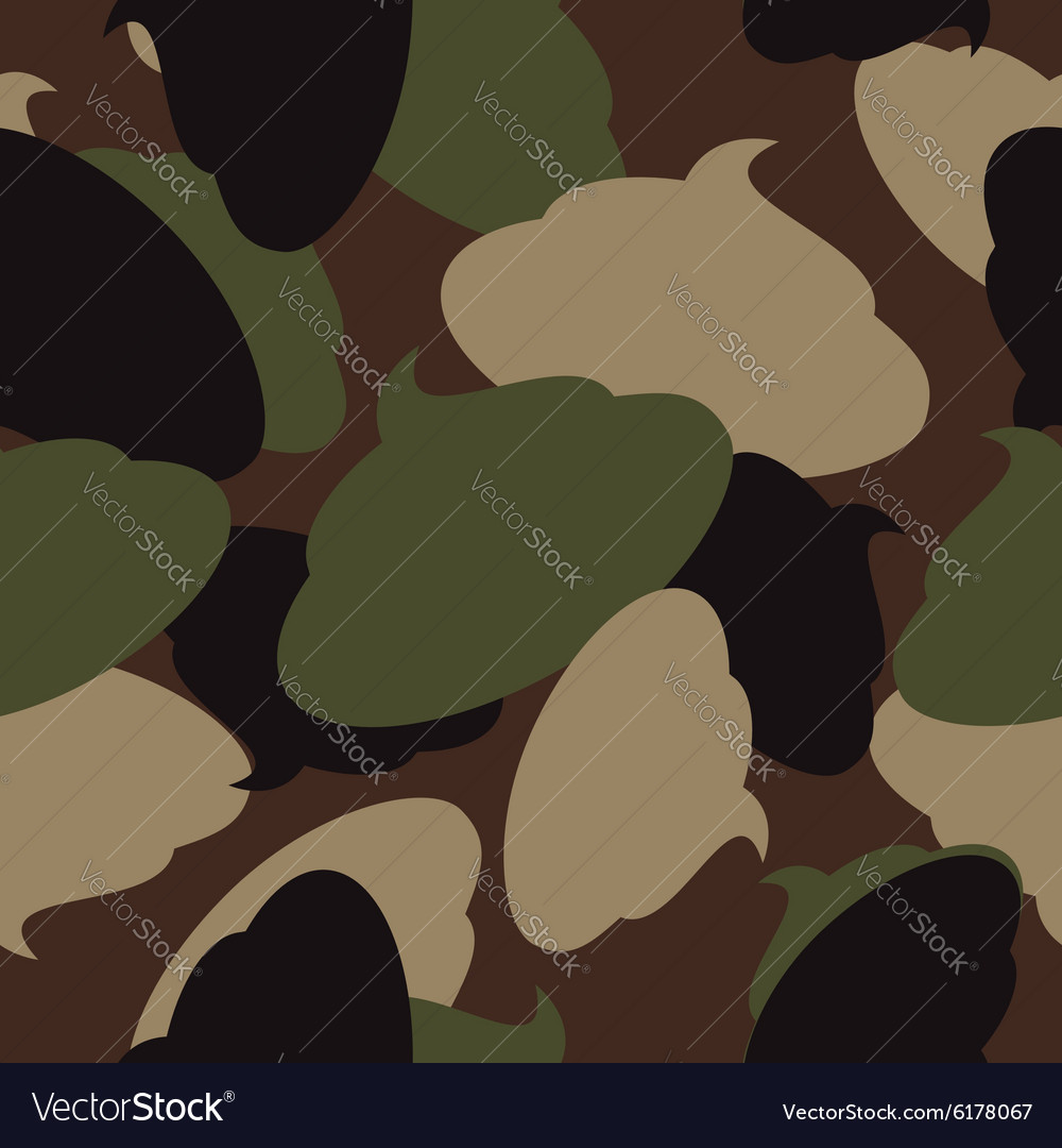 Army pattern of turd military camouflage texture vector