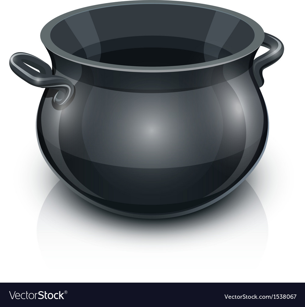 Cast iron pot vector