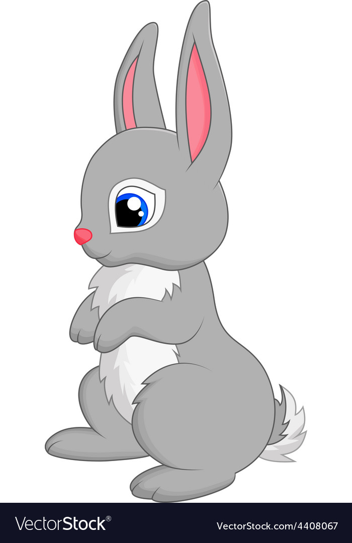 Cute rabbit cartoon vector