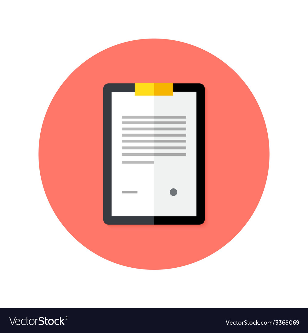 Business clipboard flat circle icon vector