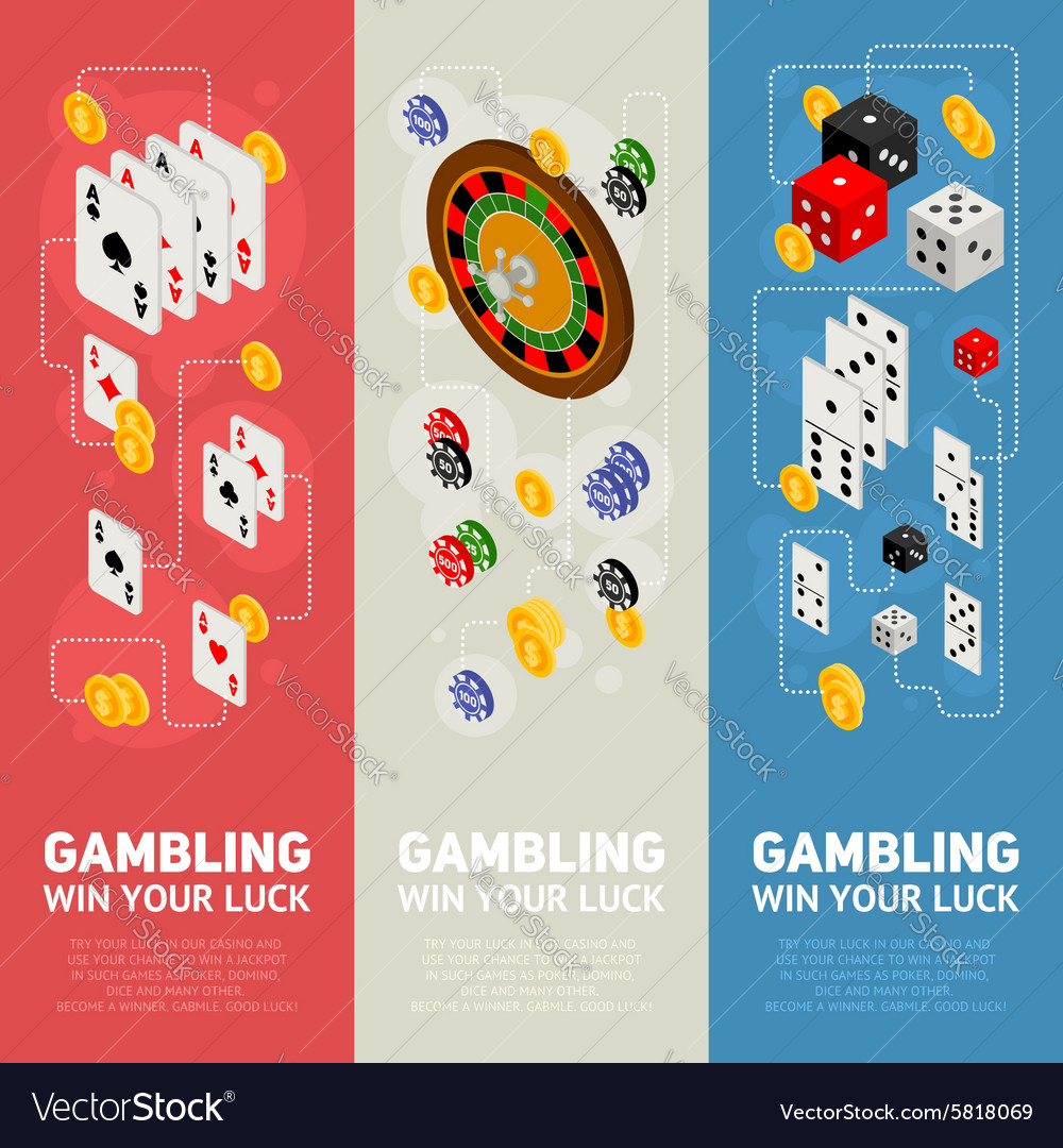 Casino isometric design concept of templates vector