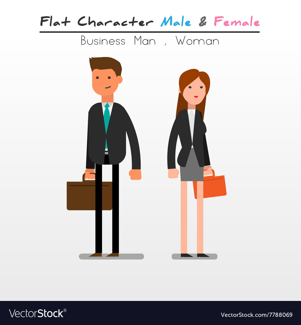 Flat character business vector