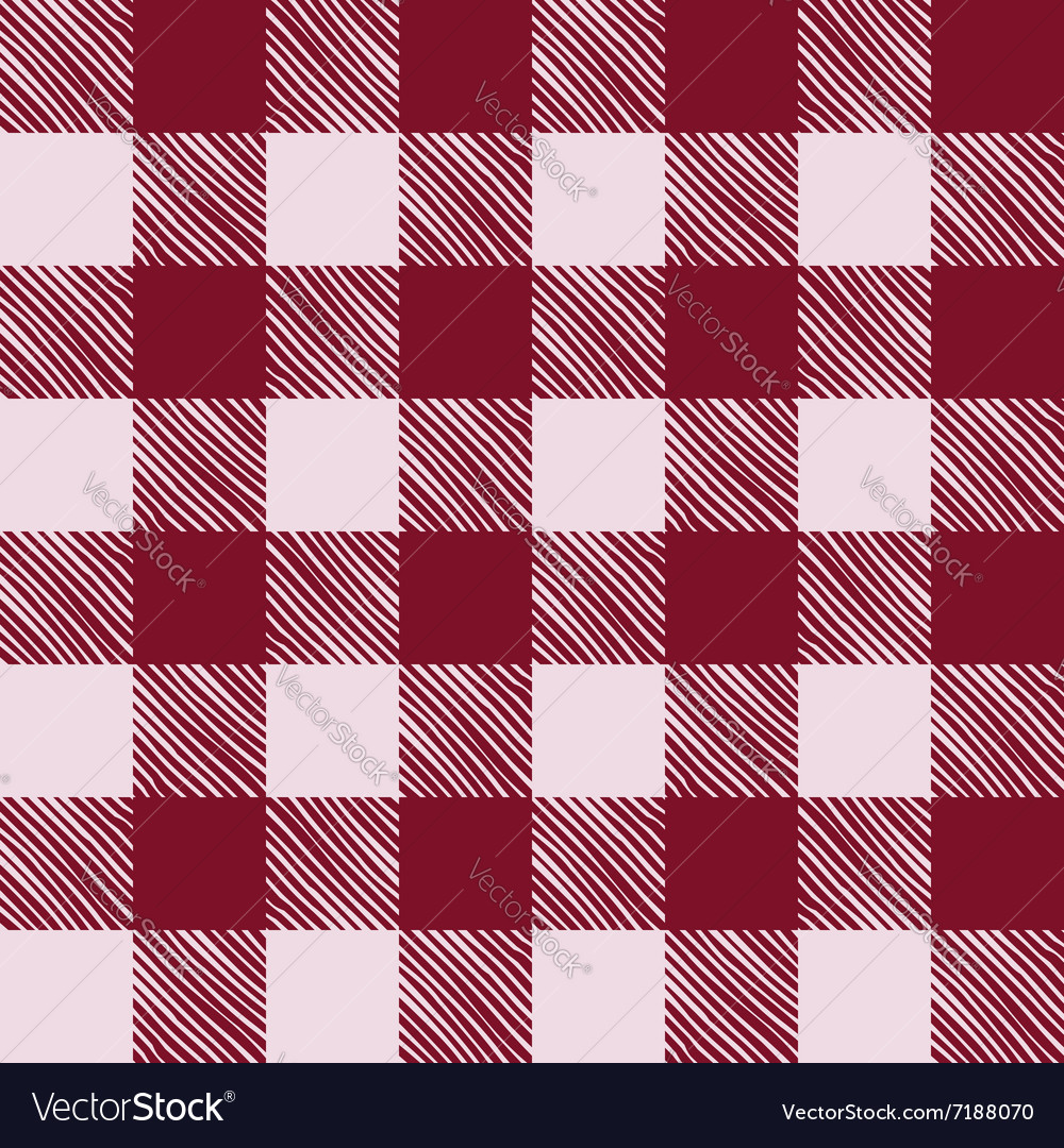 Seamless texture of red plaid vector