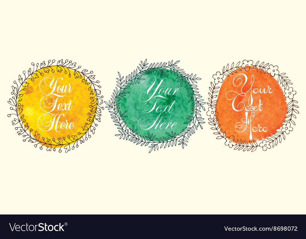 Colored frames set vector