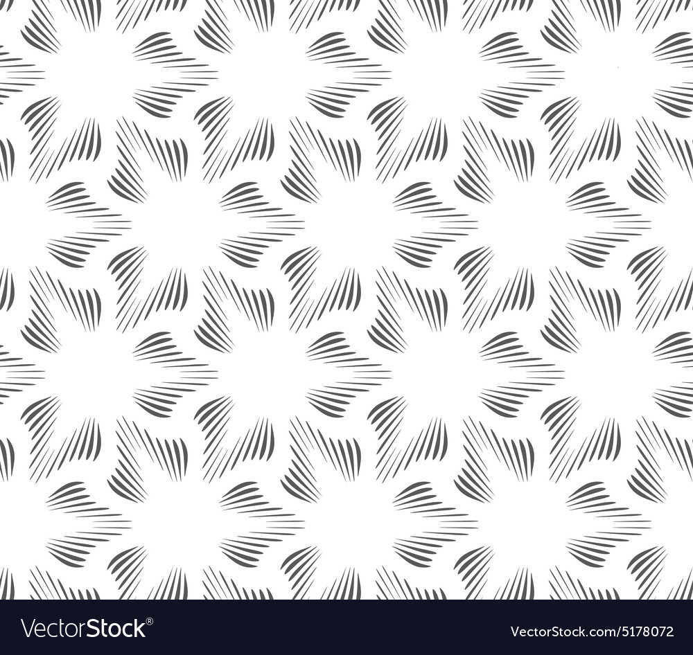 Monochrome three pedal brushed flowers vector