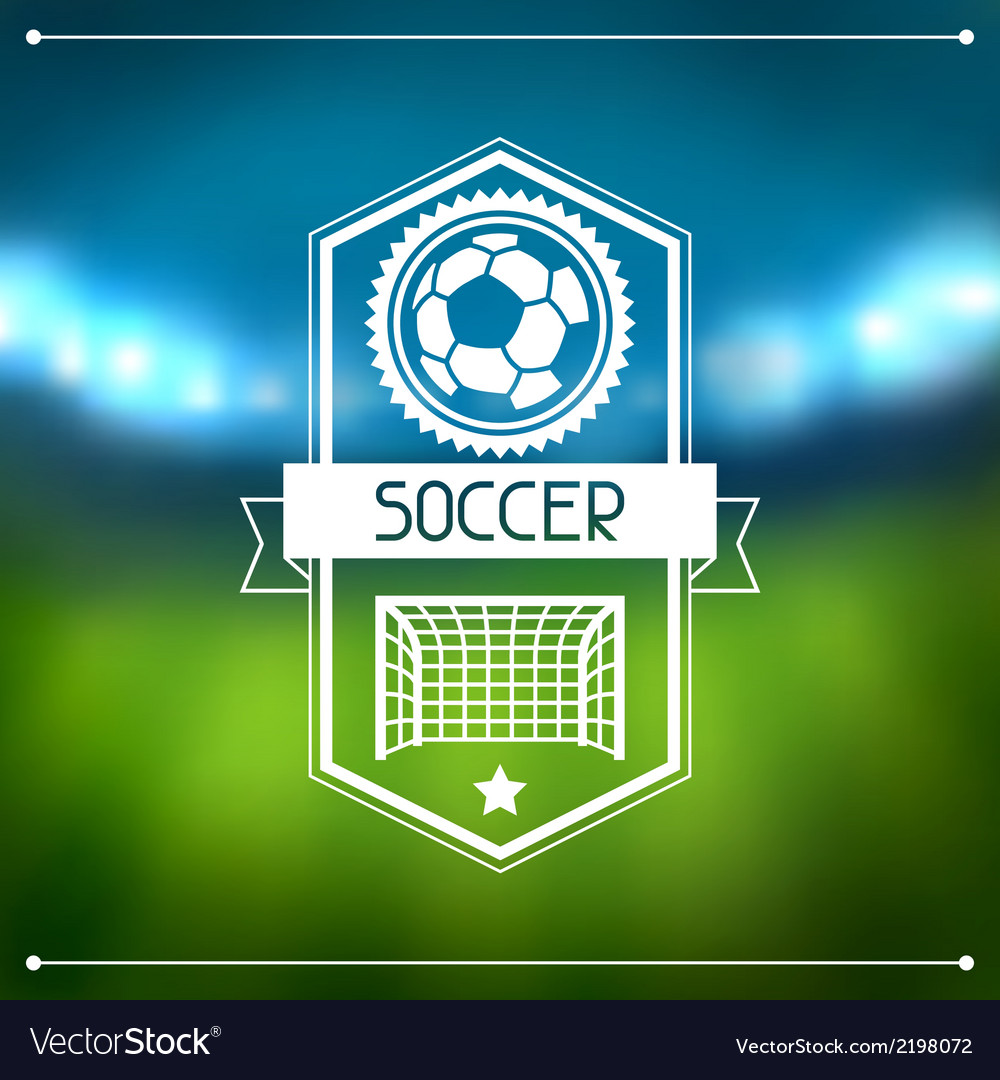 Sports background with soccer stadium and labels vector