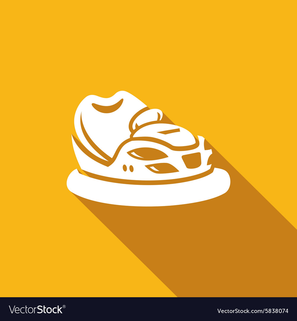Bumper car icon vector
