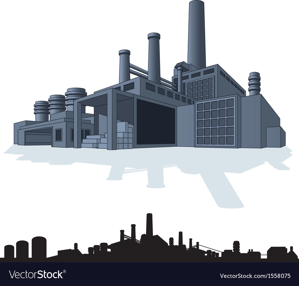 Abstract large factory 3d vector