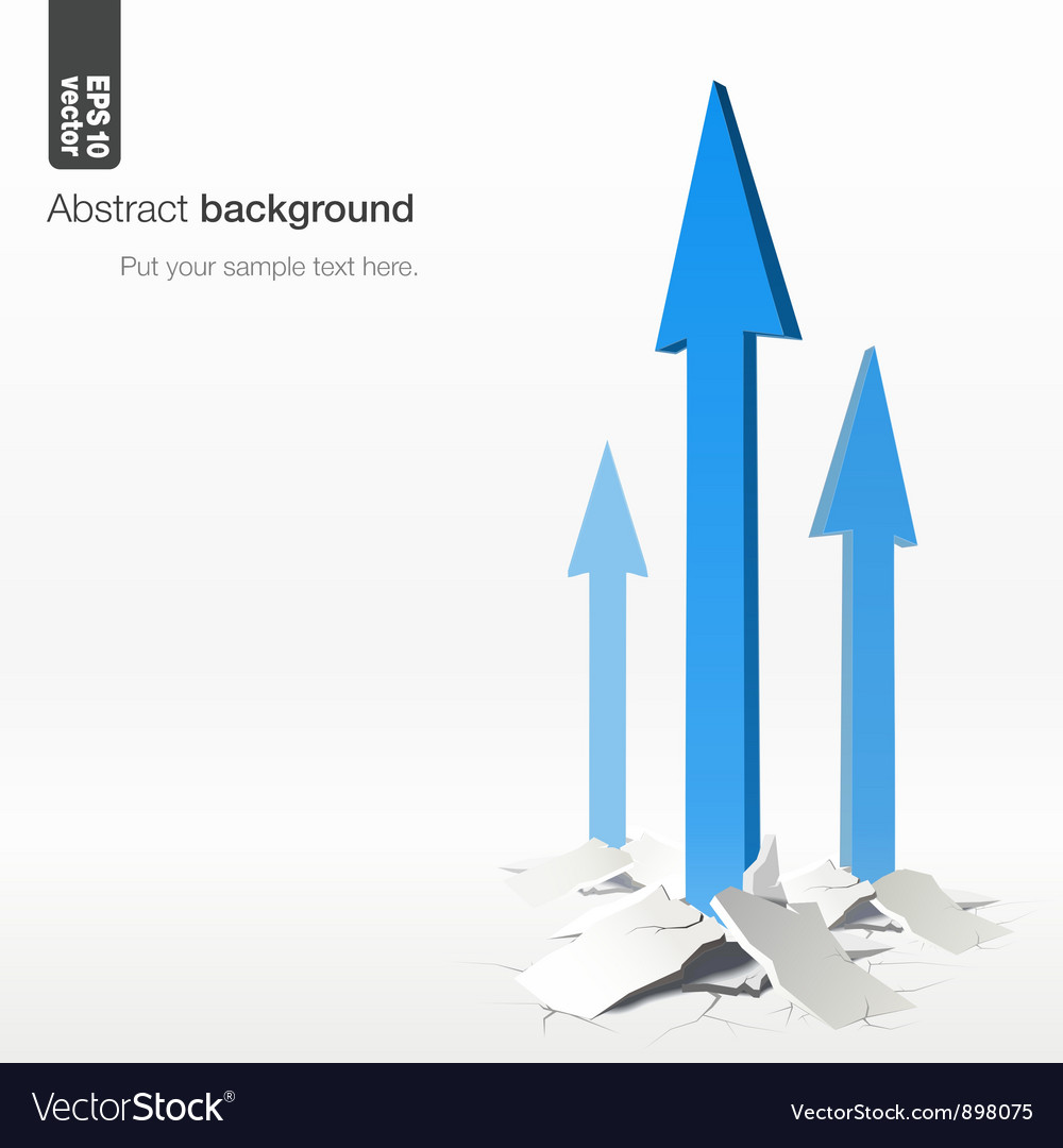 Growth arrows  success concept vector